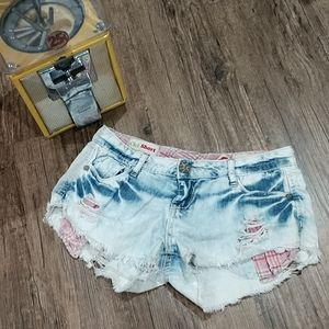 Hot Kiss Distressed Shorts